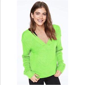 NEW Victoria Secret Pink Reversible Vneck sweater